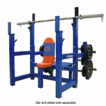 Legend Fitness Olympic Shoulder w/ Plate Storage 3156