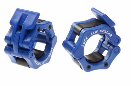 "Lock Jaw 2"" Olympic Barbell Collars - Blue"