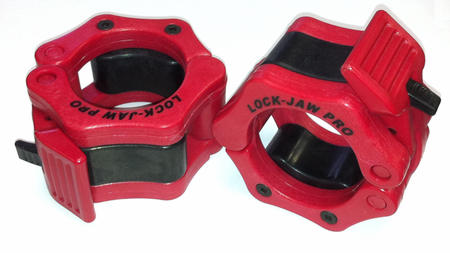 "Lock Jaw Pro 2"" Olympic Locking Collars - Red"