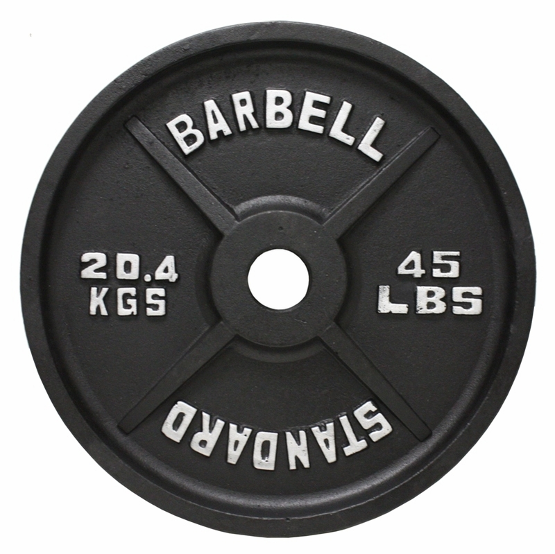 Olympic Weight Plate Set Black 355lbs