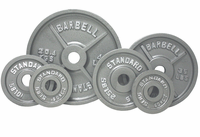 Olympic Weight Plate Set Gray - 255lbs