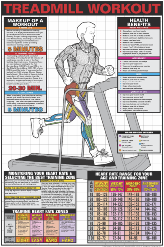 Treadmill Workout Poster - Laminated