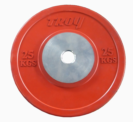 Troy 25kg Competition Bumper Plates - Pair