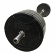 Troy 275lb Rubber Bumper Plate Set W/1500lb Test Bar