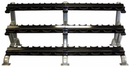 Troy DR-15 3 Tier (15pr) Pro Style Dumbbell Rack