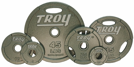 Troy Grip Olympic Weight Plate Set - 255lbs