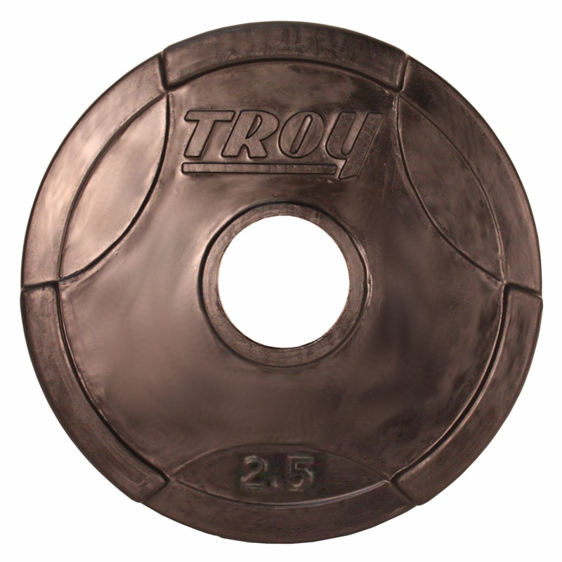 Troy Rubber Coated Olympic Weight Plates 455lbs