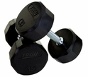 Troy Rubber Encased 12 Sided Dumbbells 5-50lb Set