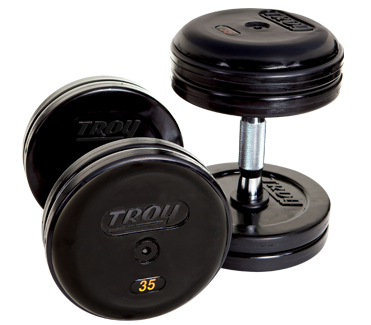 Troy Rubber Encased Pro Style Dumbbells 55-75lb Set