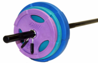 Troy TLW-40GC Color Lightweight Barbell Set