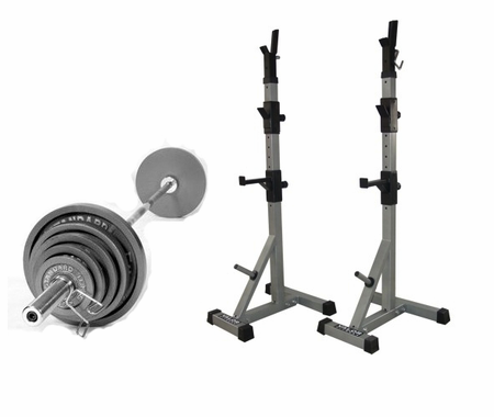Valor Fitness Economy Squat Stand Package