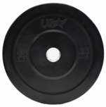 15lb Black Rubber Bumper Plates - Pair