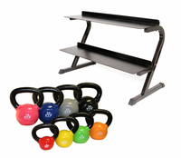 VTX 5-30lb Kettlebell Set With Rack