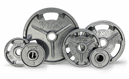 VTX Grip Olympic Weight Plate Set - 255lbs