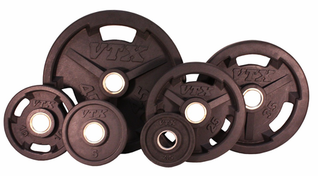 VTX Rubber Olympic Weight Plate Set - 255lbs