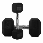 XMark Rubber Encased Hex Dumbbells