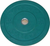 York 10lb Green Bumper Plate - Pair