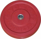 York 45lb Red Bumper Plate - Pair