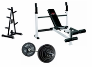 York Olympic Bench Press Package