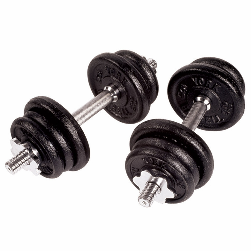 York 30kg Dumbbell Set: York Cast Iron Dumbbell Set