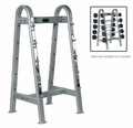 York ETS Fixed Straight & Curl Barbell Rack