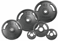 York G2 Rubber Coated Plate Set - 455lbs
