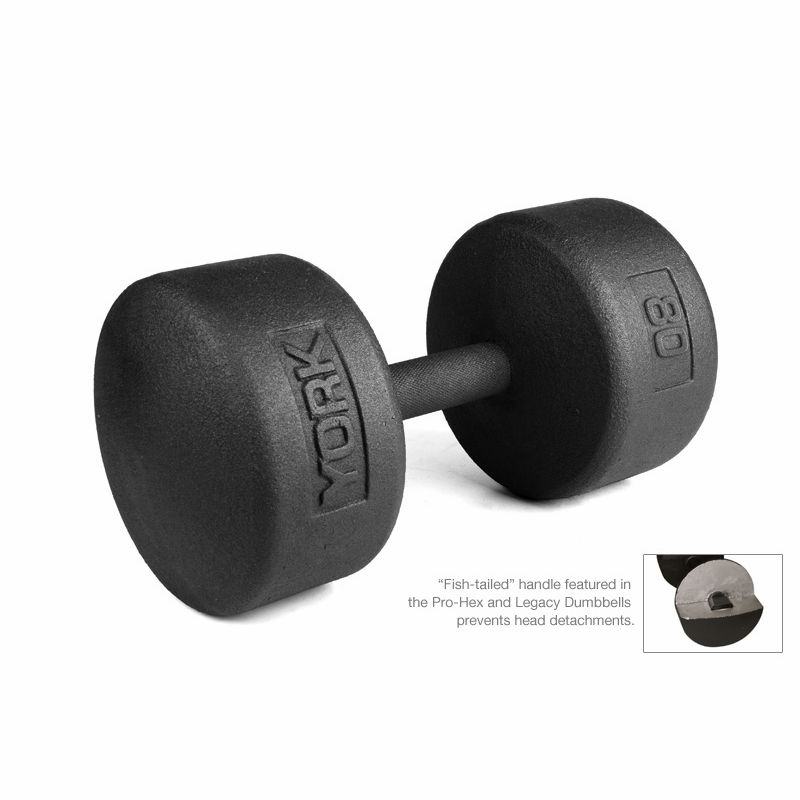 Free Weights Vs Barbell: York Legacy Solid Round Dumbbells 130lb-150lb Set