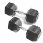 York Rubber Coated Hex Dumbbell Sets
