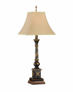 1039 Wildwood Lamps Painted Candlestick Lamp