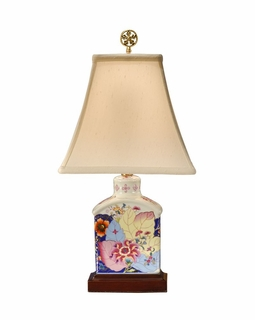 14130 Wildwood Lamps Mount Vernon Tobacco Leaf Lamp with Hand Painted Porcelain