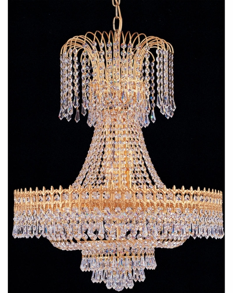 1471 Gd Cl Mwp Crystorama Empire Ii 9 Light Gold Chandelier