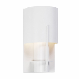 1710.03LF Sonneman Architectural Oberon Sconce in Satin White Finish