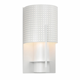 1710.03MF Sonneman Architectural Oberon Sconce in Satin White Finish