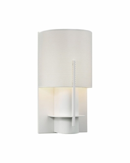 1710.03PF Sonneman Architectural Oberon Sconce in Satin White Finish