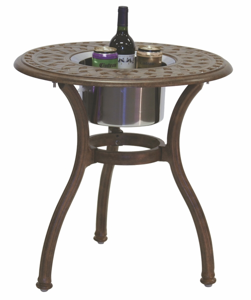 201060 Rq Darlee 24 Quot Round End Patio Table Ice Bucket