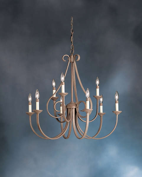 2031ob Kichler Lighting Dover Chandelier In Olde Brick