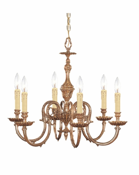 2606 Ob Crystorama Novella 6 Light Olde Brass Chandelier