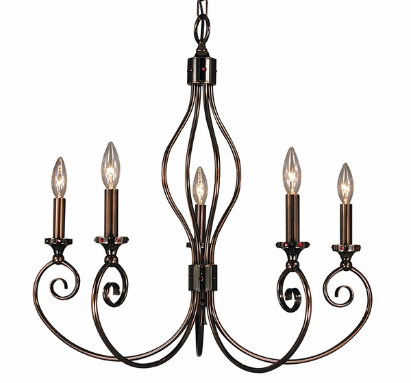4235 Framburg Lighting Katarina 5 Light Dining Chandelier
