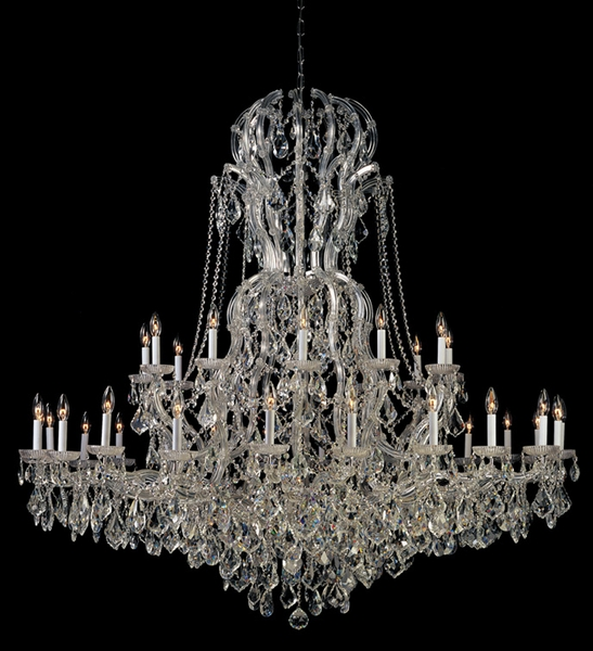 4460 Ch Cl S Crystorama Maria Theresa Chandelier Draped In