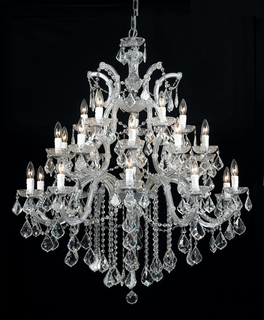 4470-CH-CL-MWP Crystorama Maria Theresa Chandelier Draped In Hand Cut Crystal