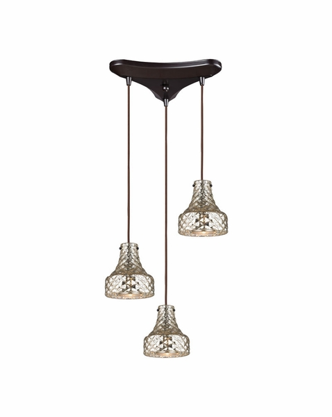46023 3 Elk Restoration Danica 3 Light Mini Pendant In Oil