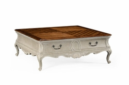 494399 Jonathan Charles Country Farmhouse French Provincial Grey Painted Coffee Table