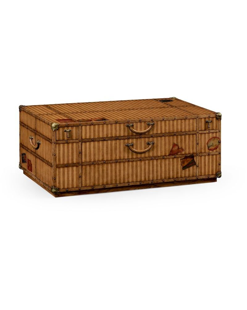 494812 jonathan charles voyager travel trunk style coffee - Trunk style coffee tables ...
