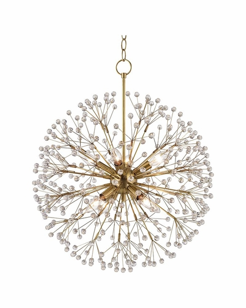 6020 Hudson Valley Dunkirk 20 Inch 8 Light Chandelier In