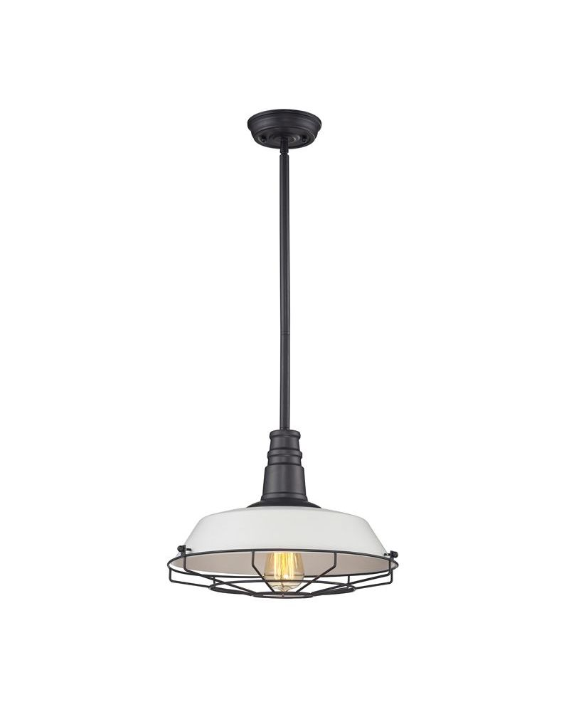 67045 1 elk restoration warehouse pendant 1 light pendant in oil