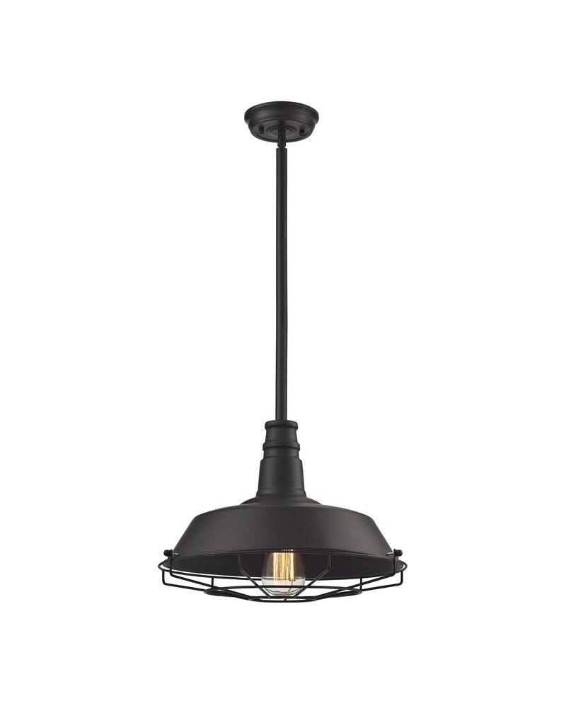 67046 1 elk restoration warehouse pendant 1 light pendant in oil