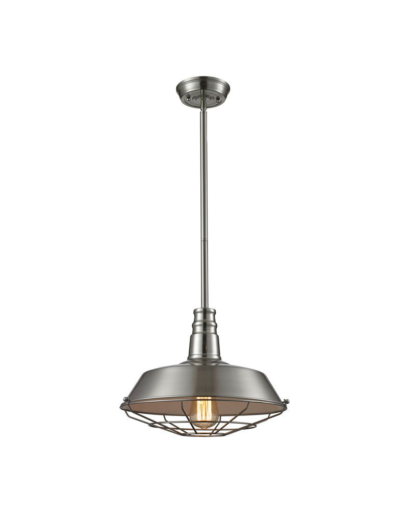 67056 1 elk restoration warehouse pendant 1 light pendant in polished