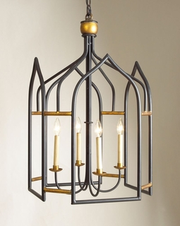 68003 Chelsea House 20-0012 Seville Lantern - Black and Gold
