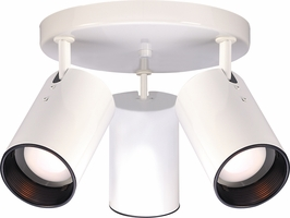 76/416 Nuvo Traditional White 3 Light R20 Straight Cylinder