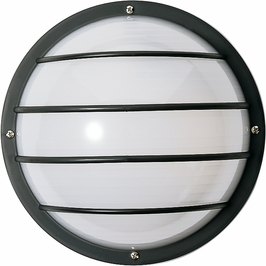 77/859 Nuvo Traditional Black 1 Light 10 inch Round Cage Wall Fixture Polysynthetic Body & Lens